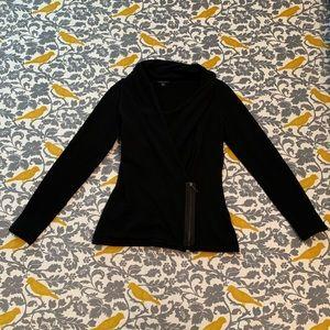 Lafayette 148 Black Zip Sweater EUC Size P or XS